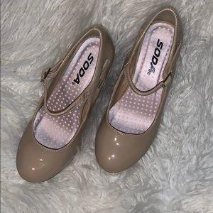Girls wedge dress shoes